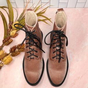 Dolce Vita Shoes - Dolce Vita Bardot Rose Velvet Combat Boot Sz 8